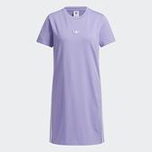 Adidas Originals ADICOLOR DRESS 女裝 短袖 洋裝 連身裙 單側開衩 紫【運動世界】H39044