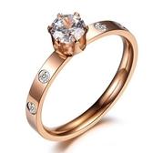 玫瑰金鑲鑽純銀戒指-精美時尚熱銷生日情人節禮物女飾品71am30【巴黎精品】