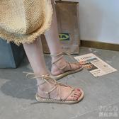 涼鞋 搭配仙女風長裙子穿的鞋子女鞋平底百搭潮新款夏季涼鞋女  『優尚良品』