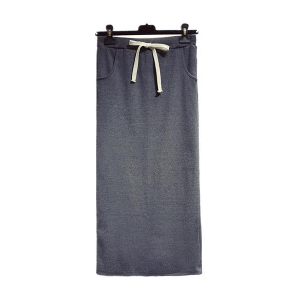 針織長裙 秋冬新款後開叉針織半身裙中長款包臀裙女高腰裙子修身一步裙長裙 小宅女