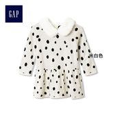 Gap x Disney女嬰兒 迪士尼系列 純棉斑點狗長袖洋裝 927188-米白色