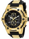 瑞士INVICTA手錶-Bolt鋼索系列 黑金經典款 25468 瑞士錶 計時碼表黑色錶盤男士手錶 英威塔