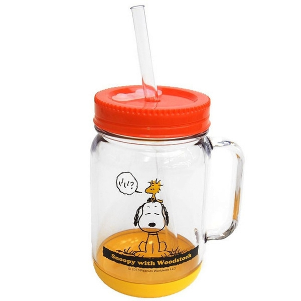 【震撼精品百貨】史奴比Peanuts Snoopy~史努比 SNOOPY 塑膠梅森杯(500ML)