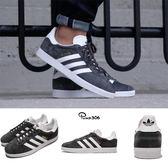 【海外限定】adidas 休閒鞋 Gazelle 灰 深灰 白 麂皮 金標 復古 三葉草 男鞋 女鞋【PUMP306】 BB5480