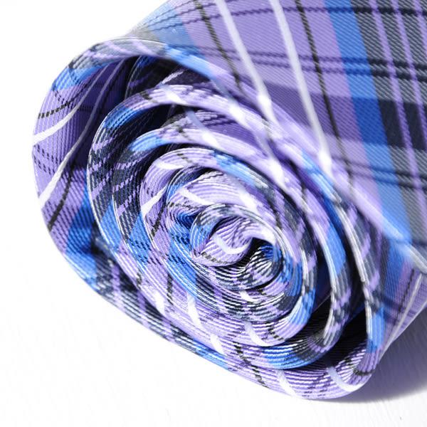Roberta di Camerino 諾貝達格紋領帶-藍紫