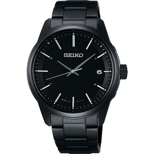 SEIKO 精工 SPIRIT 萬年曆太陽能電波錶-鍍黑/40mm 7B24-0BJ0SD(SBTM235J)
