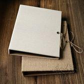 (百貨週年慶)麻布文藝風記事本活頁筆電相冊卡紙內頁 簡約麻繩綁帶紀念冊