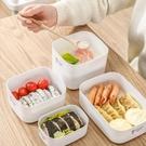 日本保鮮盒塑料水果便當盒食品冰箱專用收納盒帶蓋微波爐碗熱飯盒 【618特惠】