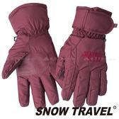 【SNOW TRAVEL 雪之旅】防水羽毛手套『酒紅 』AR-1 防風手套│保暖手套│羽絨手套