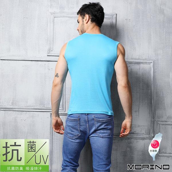 《MORINO》機能休閒抗菌防臭速乾無袖衫-水藍色