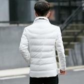 潮牌冬季新款男士羽絨服輕薄款韓版修身短款潮流帥氣冬裝衣服外套 琉璃美衣