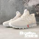 NEW BALANCE 574 復古慢跑鞋 麂皮 網布 紅標 米白 男女(布魯克林)2018/10月 MS574UTS