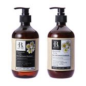 (組)BFB洋甘菊/百合天然草本洗髮精x1+護髮素x1