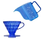 金時代書香咖啡 V60 02樹脂濾杯壺組 藍莓色 V60-VD-02-TCB-A