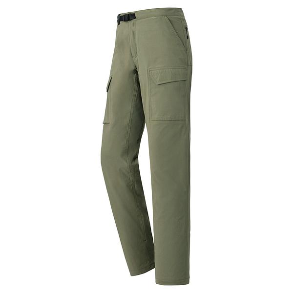 [好也戶外]mont‧bell STRETCH LINING CARGO女款薄刷毛多口袋長褲 No.1105595-OV/DKNV