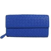茱麗葉精品【全新現貨】BOTTEGA VENETA 150509 經典手工編織小羊皮扣式長夾.藍