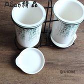 筷子筒-北歐植物陶瓷筷子架家用瀝水筷子筒-艾尚精品 艾尚精品