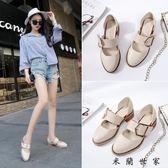 包頭涼鞋女春季新款女鞋粗跟小皮