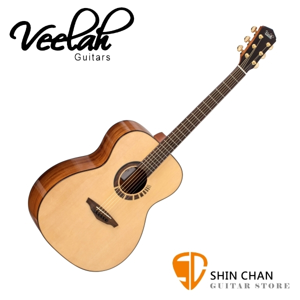 Veelah吉他 V7-BAS-OM 全單板 民謠吉他 附硬盒【OM桶身 / 木吉他】