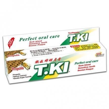 【T.KI】 鐵齒蜂膠牙膏 (20g/條)*6+【T.KI】 護理炫金炭絲牙刷*6
