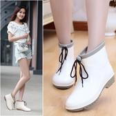 雨鞋女短筒時尚雨鞋女夏季成人雨靴防滑水鞋女套鞋學生膠鞋中幫水靴