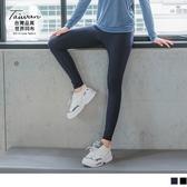 《KS0677-》台灣製造~扭結造型腰頭彈力吸排內搭褲/瑜珈褲 OB嚴選