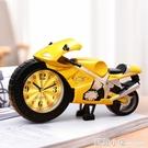 鬧鐘 摩托車小鬧鐘學生用男孩專用兒童時鐘卡通創意可愛迷你鬧鈴床頭鐘 3C優購