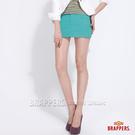 BRAPPERS 女款 新美腳Royal系列-彈性迷你裙-綠