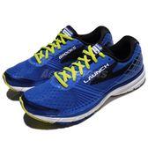 BROOKS 慢跑鞋 Launch 3 發射系列 三代 藍 黑 DNA動態避震科技 運動鞋 男鞋【PUMP306】 1102151D432