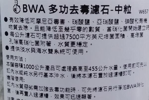 【西高地水族坊】美國BWA MICROBACTER 多功能去毒濾石 淨化濾石-中顆粒