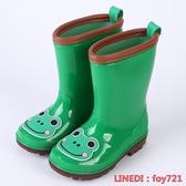 雨鞋 曦之桐時尚卡通雨鞋男童女童水鞋嬰幼兒寶寶學生膠鞋中筒雨靴 全館免運