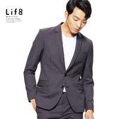 Formal 雙色織紋細格 修身西裝外套【11165】