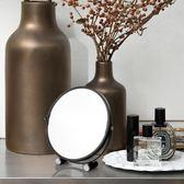 鏡子歐式化妝鏡正韓化妝雙面鏡公主鏡梳台式復古【全館免運】