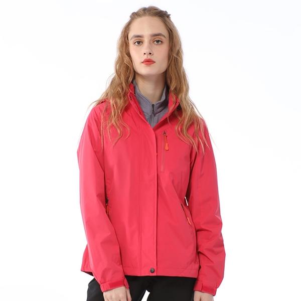 【PolarStar 網購獨賣】女 防風天鵝絨保暖外套『桃粉紅』上衣 休閒 吸濕排汗 冬季 保暖 禦寒