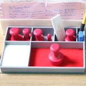 印章盒 多功能印章盒子 銀行桌面印台盒 印章收納盒 印章整理盒 魔方數碼館WD