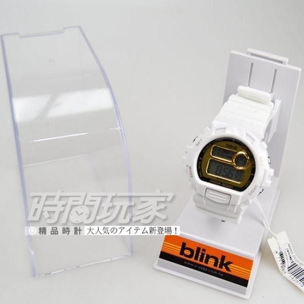 JAGA Blink系列 陽光炫麗多功能 運動錶 電子錶 藍色冷光燈 男錶/中性錶/女錶/都適合 M886-DL(白金)