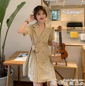 大碼連身裙 女裝2020新款初春款大碼法式連身裙子顯瘦減齡夏兩件套裝洋氣胖mm 7月特惠