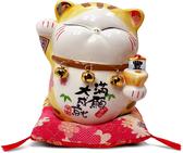 【金石工坊】馬卡龍波士桃花貓(高14CM)招財貓 開店送禮 開業禮品 陶瓷開運擺飾 撲滿存錢筒