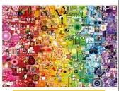 彩虹系列拼圖成年1000片超難減壓大型益智玩具進口品質黑白動物聖誕交換禮物