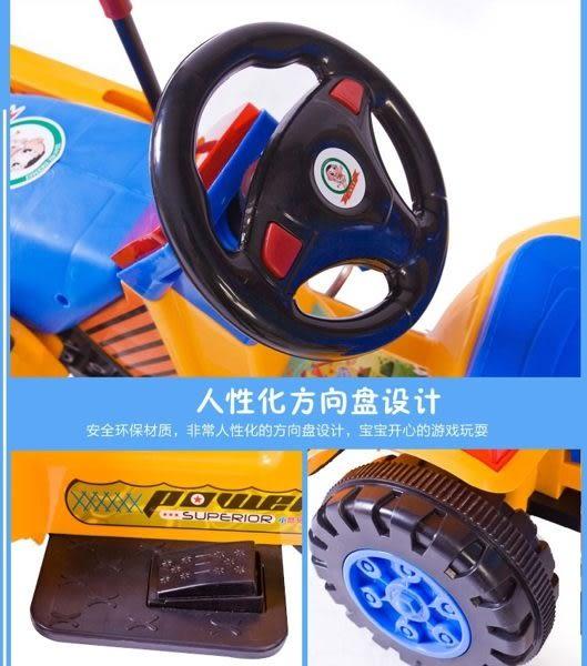 *粉粉寶貝玩具*2016最新款電動怪手挖土機~超大型工程車~可騎乘電動童車~附警燈~可外接MP3喔