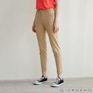 【GIORDANO】女裝腰鬆緊修身休閒卡其褲- 99 海星卡其