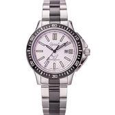 Ogival 瑞士愛其華 夜鷹系列氚氣燈管潛水造型腕錶(都會銀)42mm