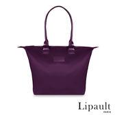 法國時尚Lipault肩背手提兩用托特包S(羅蘭紫)