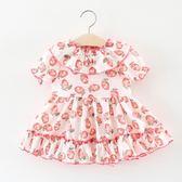 洋裝連身裙2018夏季新款嬰兒童裝0-1-2歲3半女寶寶短袖連衣裙正韓女童公主裙三角衣櫥