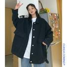 牛仔外套 女年新款潮秋冬季百搭韓版寬鬆bf慵懶風工裝上衣 【618特惠】