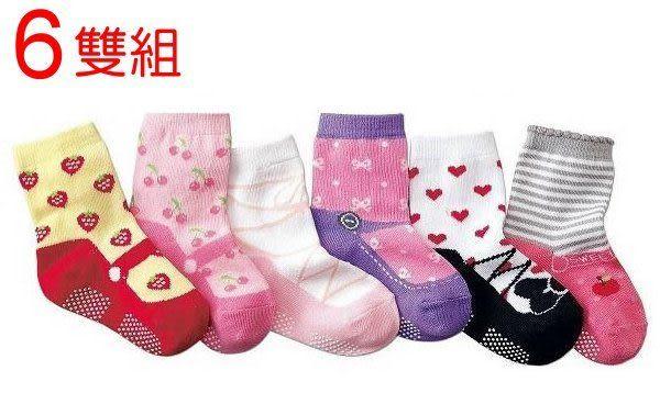 *甜蜜蜜親子童裝*可愛《草莓愛心款》假鞋襪~寶寶短襪 ((六雙組))