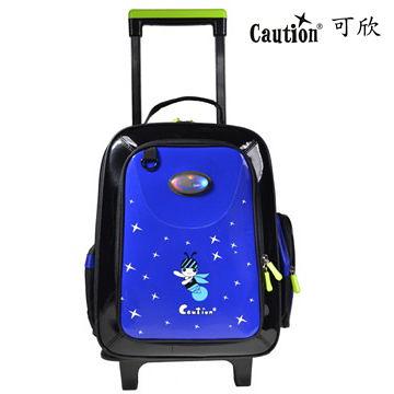 兒童書包可拆式拉桿 Caution可欣 1085精靈藍(福利品)