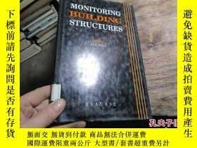 二手書博民逛書店monitoring罕見building structures