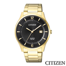 CITIZEN星辰  黑色錶盤經典商務男仕手錶  BD0043-83E