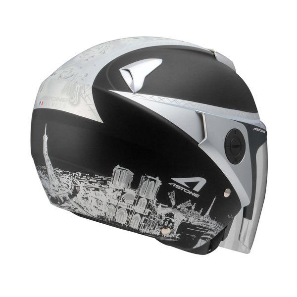 [東門城] ASTONE RS T56 彈性黑銀 3/4罩安全帽 內藏式墨片 內襯全可拆洗 眼鏡溝設計